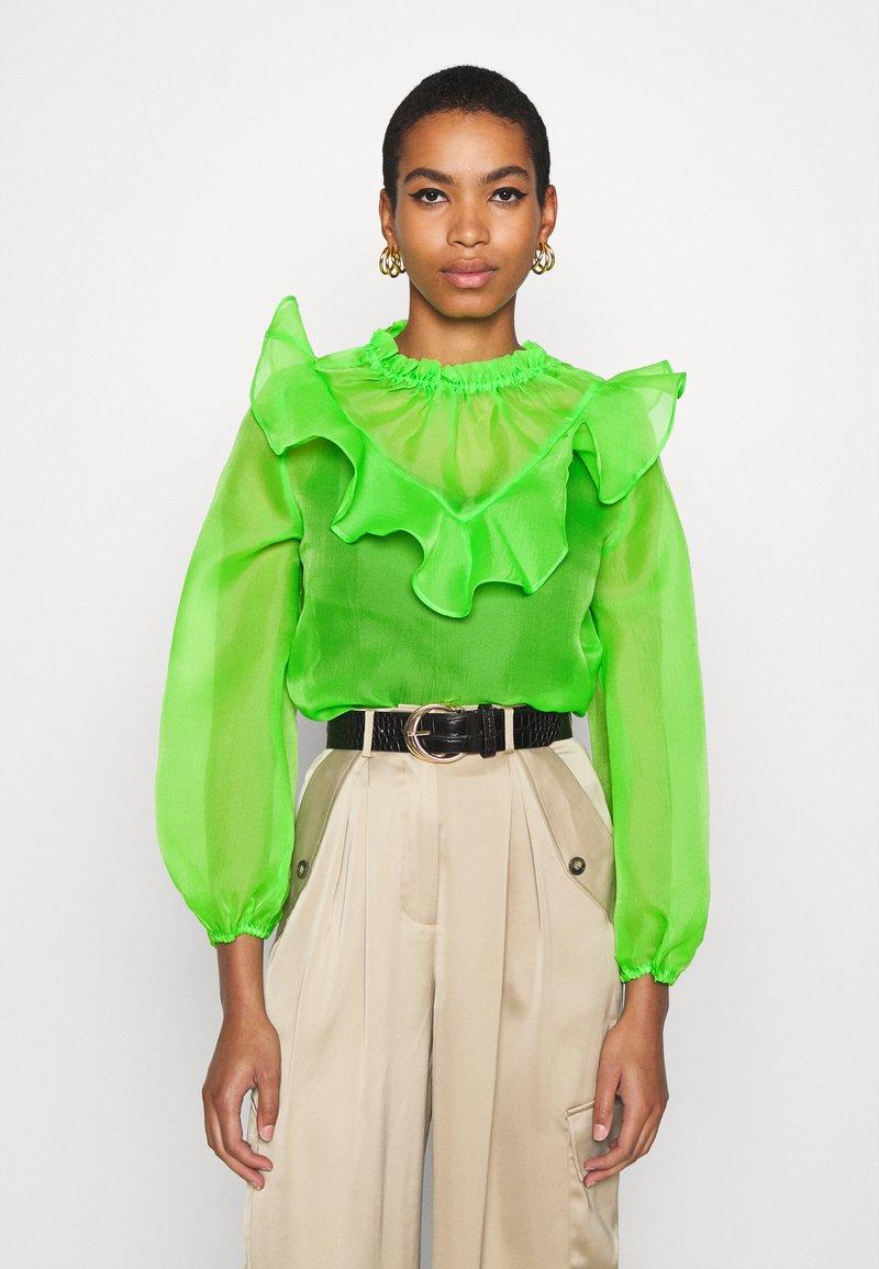 Who What Wear - RUFFLE YOKE - Blouse - jasmine green