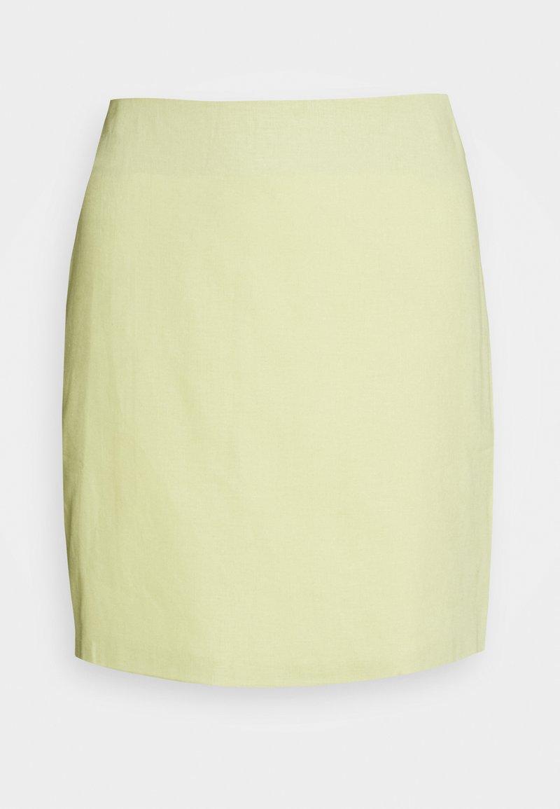 Glamorous - HIGH WAISTED MINI SKIRT - Minihame - lemon