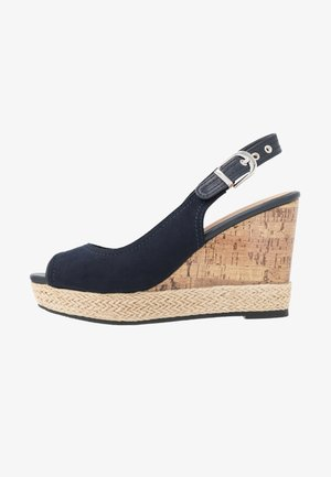 SWAN - Korolliset sandaalit - navy