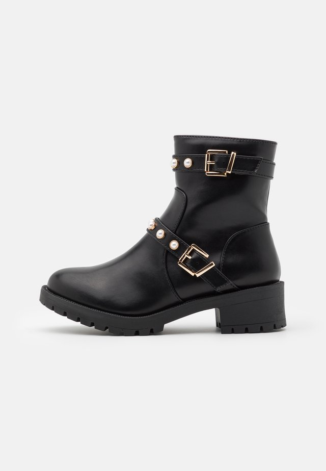 BIAPEARL FASHION BOOT - Botki kowbojki i motocyklowe - black