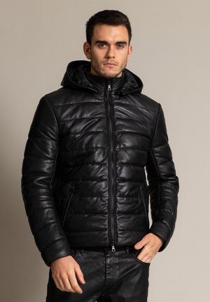 LUKAS 2.0 - Leather jacket - schwarz