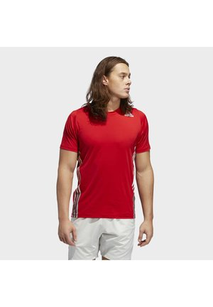 FREELIFT 3-STRIPES T-SHIRT - T-Shirt print - red