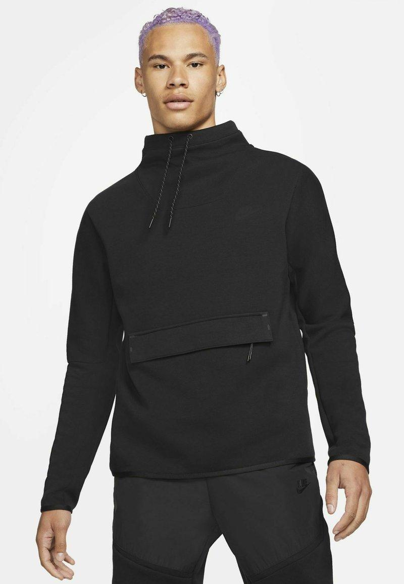 Nike Sportswear - M NSW TCH FLC LS FNL - Sweatshirt - black/black