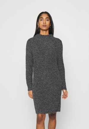 JDYABIA DRESS - Stickad klänning - dark grey melange