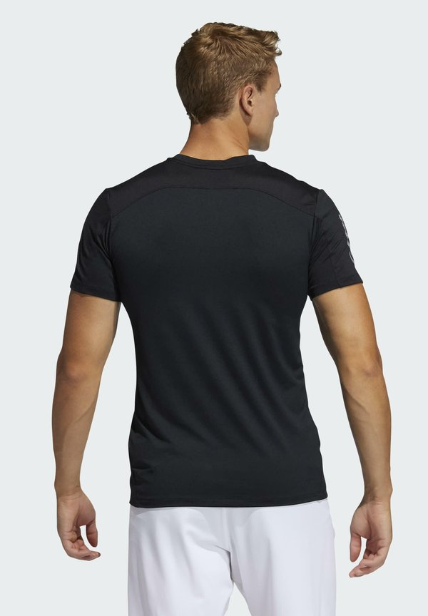 adidas Performance Koszulka sportowa - black/czarny Odzież Męska XRNJ