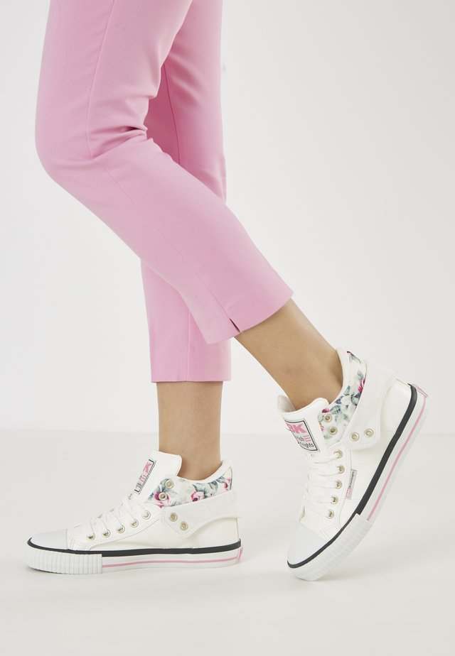 ROCO - Sneakers basse - white/flower