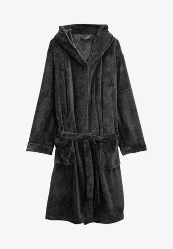 SLATE  HOODED ROBE - Dressing gown - gray