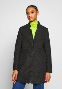 Vero Moda - VMBRUSHEDKATRINE  - Krótki płaszcz - dark grey melange - 0