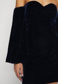 Missguided Petite - PUFF SLEEVE MINI DRESS - Day dress - navy - 5