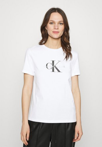 REFLECTIVE MONOGRAM TEE - T-shirts med print - bright white