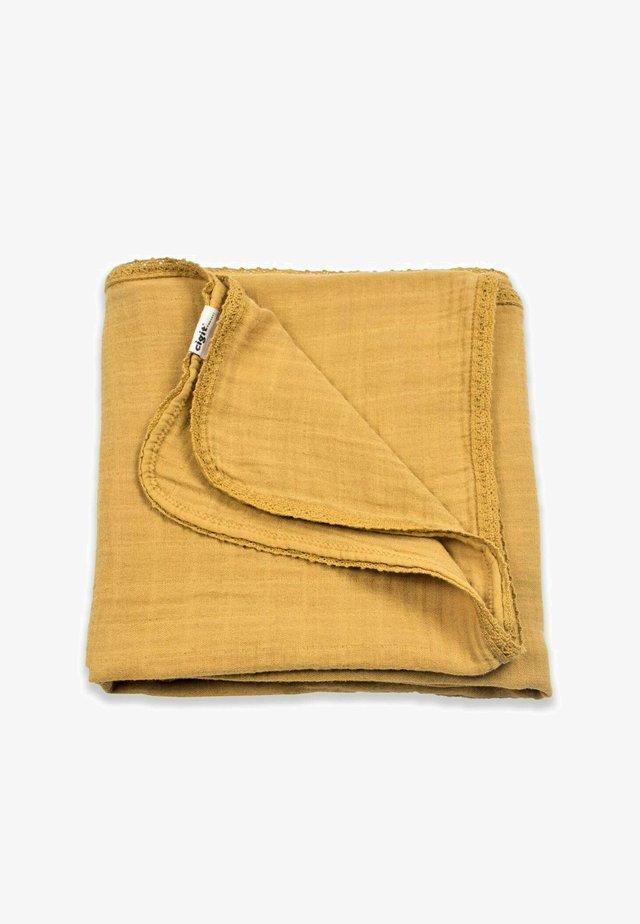 Zavinovací deka - mustard yellow