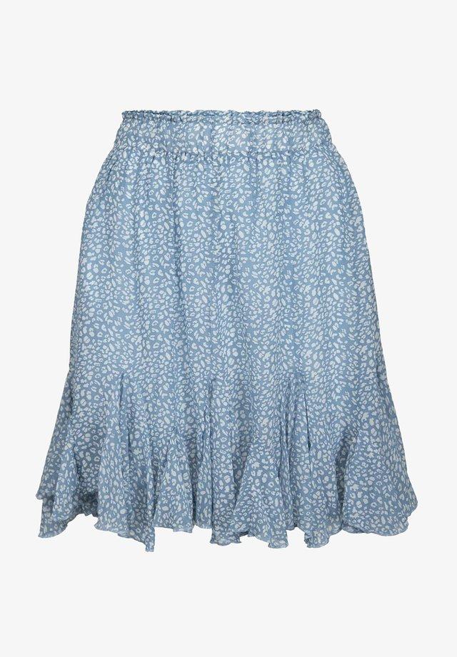 Veckad kjol - light blue