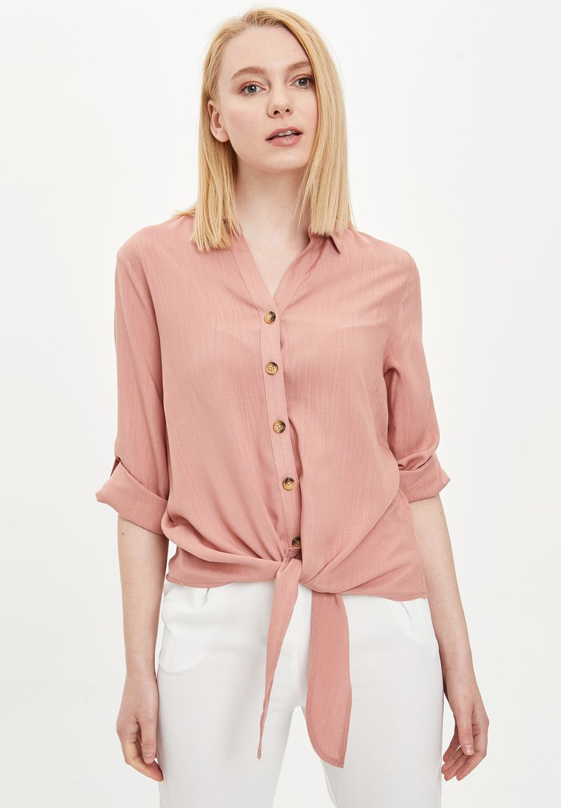 DeFacto - Button-down blouse - pink