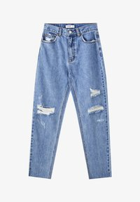 PULL&BEAR - Straight leg jeans - mottled dark blue - 6