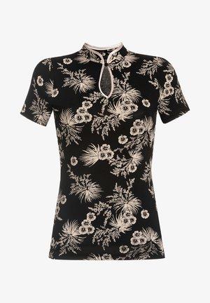 Print T-shirt - schwarz allover