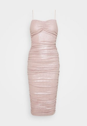 RUCHED DRESS - Cocktail dress / Party dress - champagne
