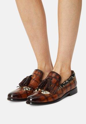 SELINA  - Nazouvací boty - brown