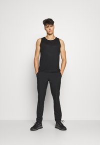 Casall - STRUCTURED TANK - Top - black - 1