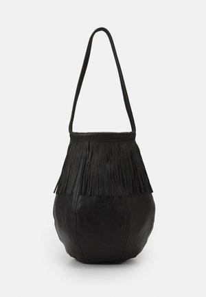 FRINGE BAG - Shopping bag - black