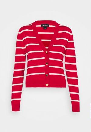 LAILA CARDIGAN - Cardigan - red/white