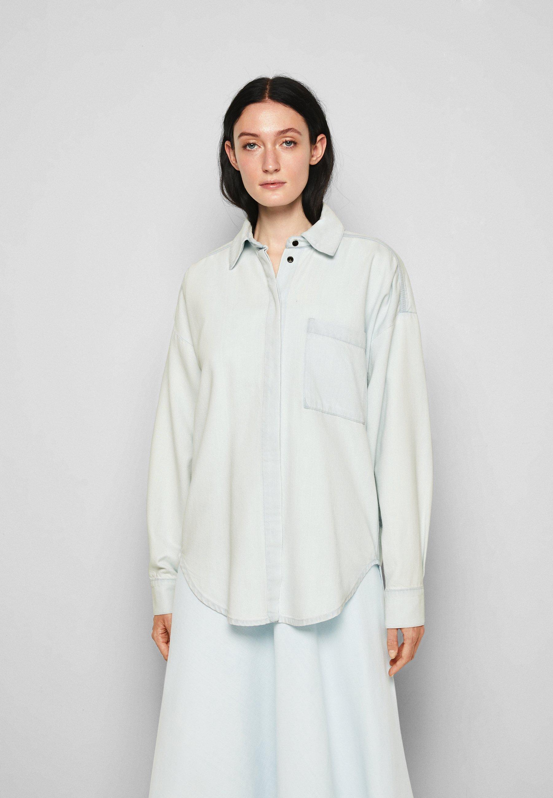 Women CHAMBRAY SHIRT - Button-down blouse