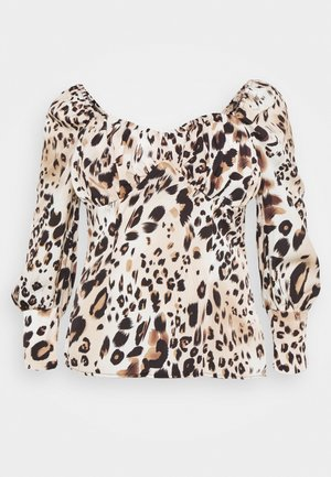 PLUS SIZE LEOPARD PRINT SWEETHEART - Camicetta - brown