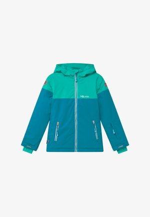 GIRLS HALLINGDAL - Kurtka snowboardowa - light petrol/dark mint/white