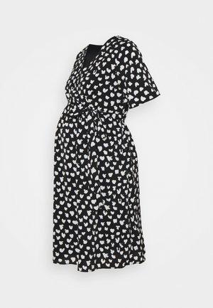 WRAP DRESS MATERNITY - Korte jurk - black