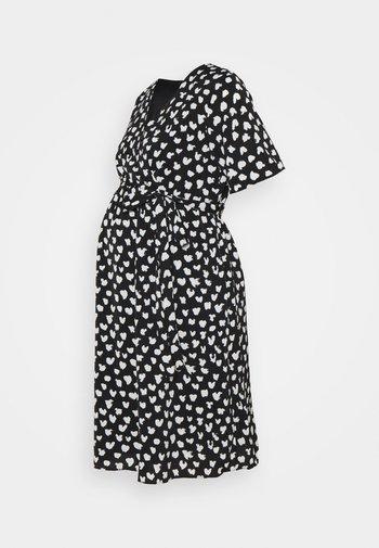 WRAP DRESS MATERNITY - Sukienka letnia - black