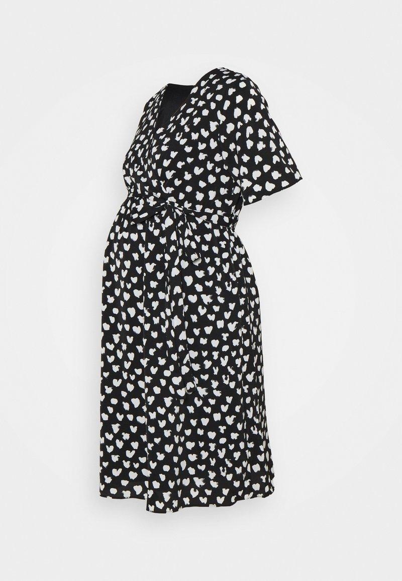 Glamorous Bloom - WRAP DRESS MATERNITY - Vestido informal - black