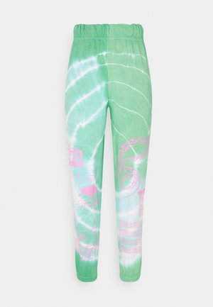 TRIBAL DRAGON TIE DYE JOGGERS - Joggebukse - green