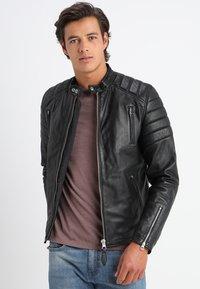 Schott - FUEL - Leather jacket - black - 0