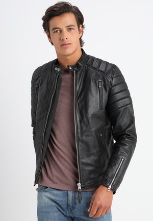FUEL - Veste en cuir - black