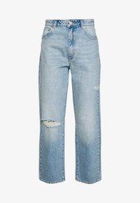 Abrand Jeans - VENICE STRAIGHT - Straight leg jeans - destroyed denim - 4