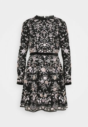 EMBROIDED DRESS - Juhlamekko - black