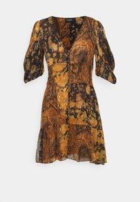 The Kooples - DRESS - Day dress - black/orange - 0
