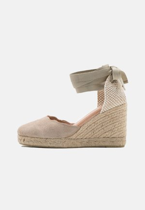 BIADEMI TIE STRAP  - Sandalen met plateauzool - sand