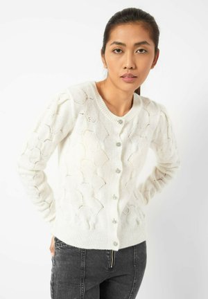 Cardigan - white pearl