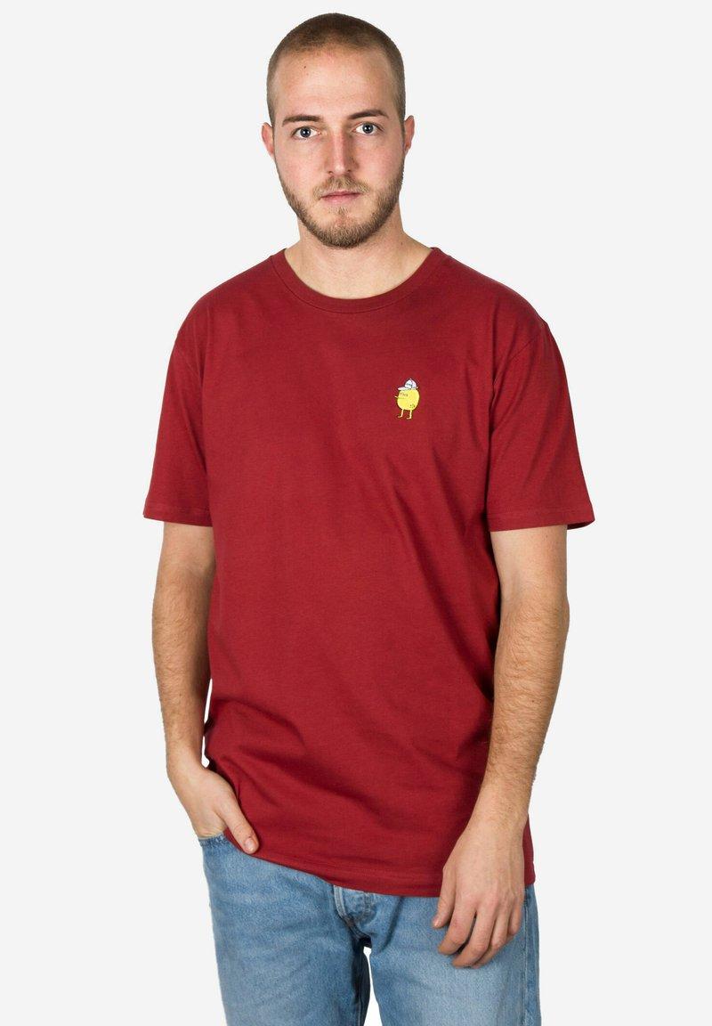 Cleptomanicx - Basic T-shirt - red