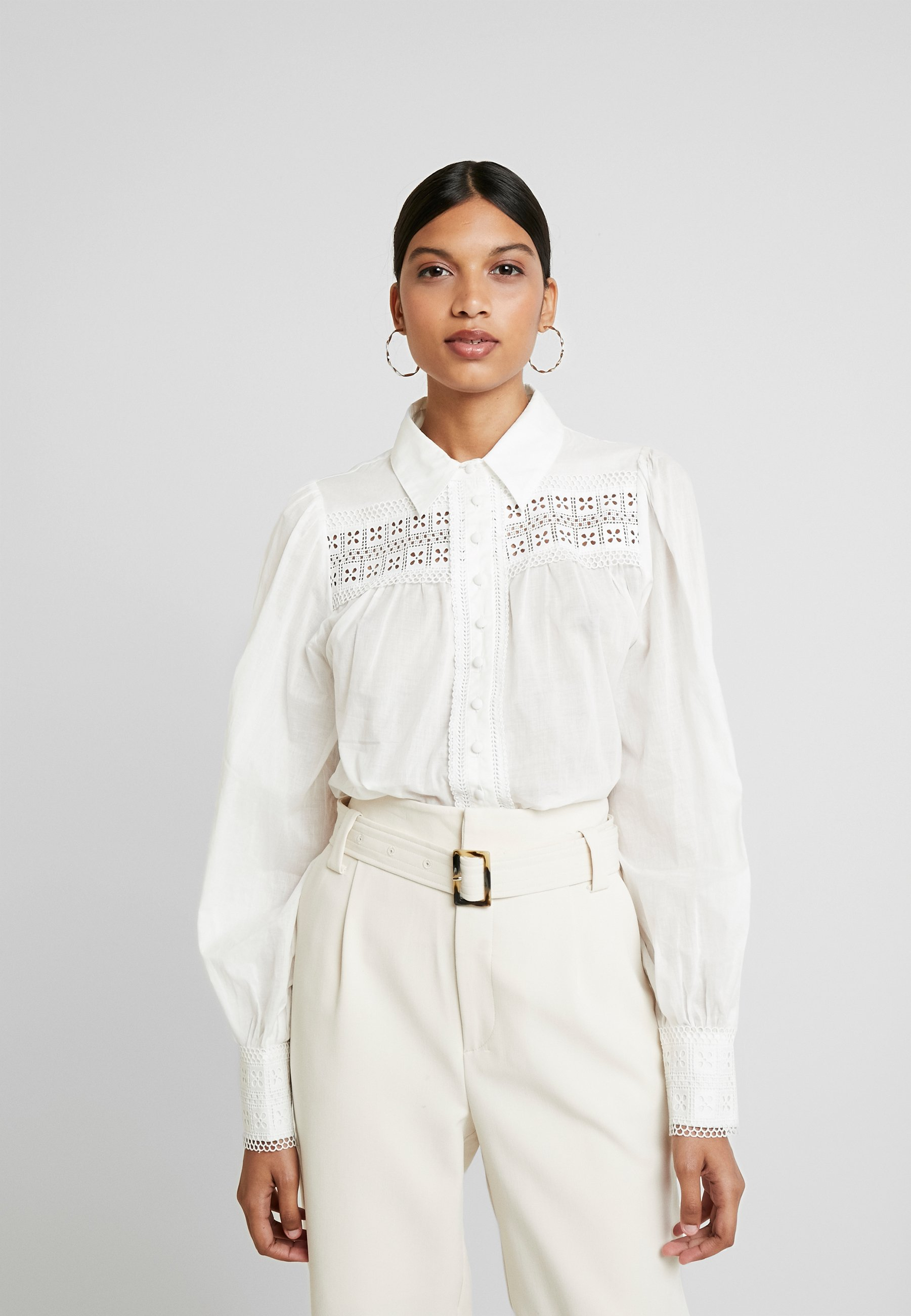 Top Quality Wholesale We are Kindred SORRENTO BLOUSE - Button-down blouse - ivory   women's clothing 2020 bKDvu