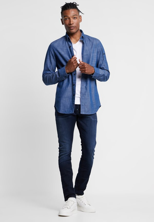 G-Star REVEND SKINNY - Jeansy Skinny Fit - slander indigo super/niebieski denim Odzież Męska LJVX