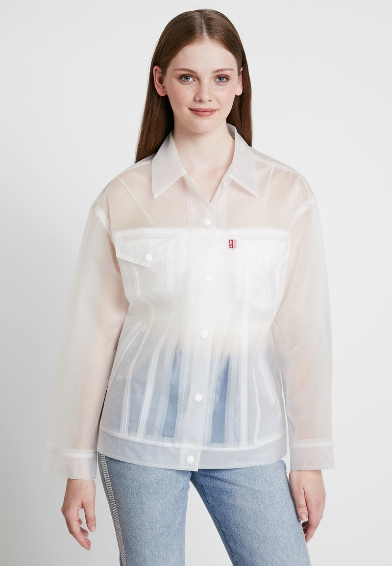 Levi's® - CLEAR BAGGY TRUCKERIN THE CLEAR - Regenjas - in the clear