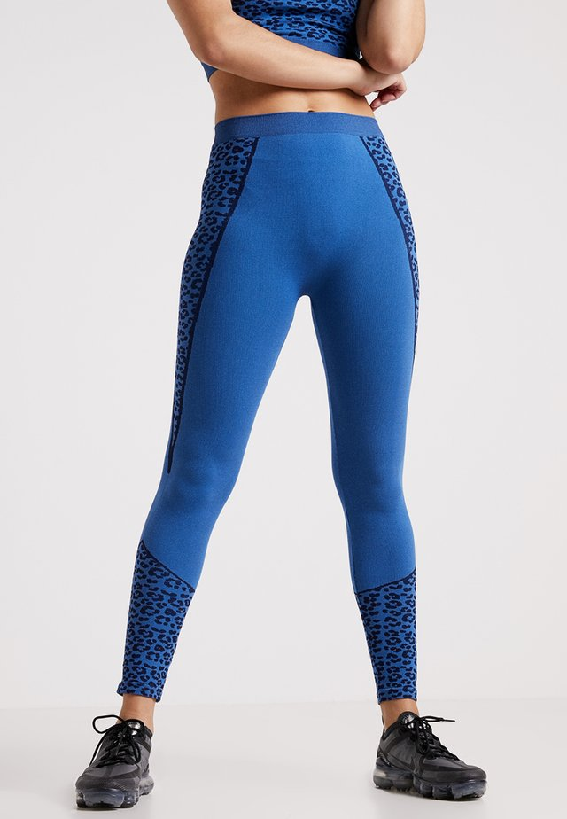 HIGH WAIST LEGGING - Trikoot - blue