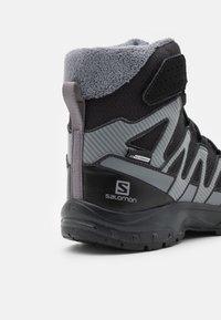 Salomon - XA PRO V8 WINTER CSWP UNISEX - Winter boots - black/phantom/quiet shade - 5