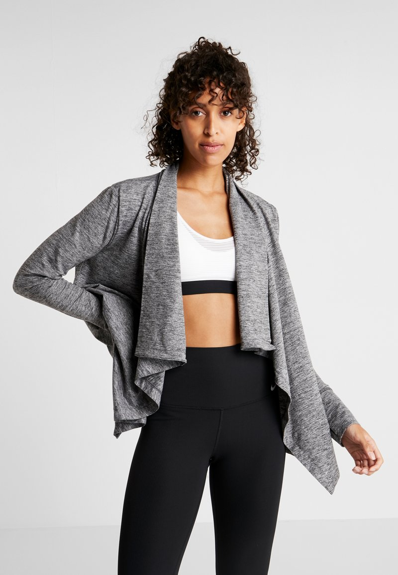 Nike Performance - YOGA COLLECTION - Zip-up hoodie - black/heather/anthracite