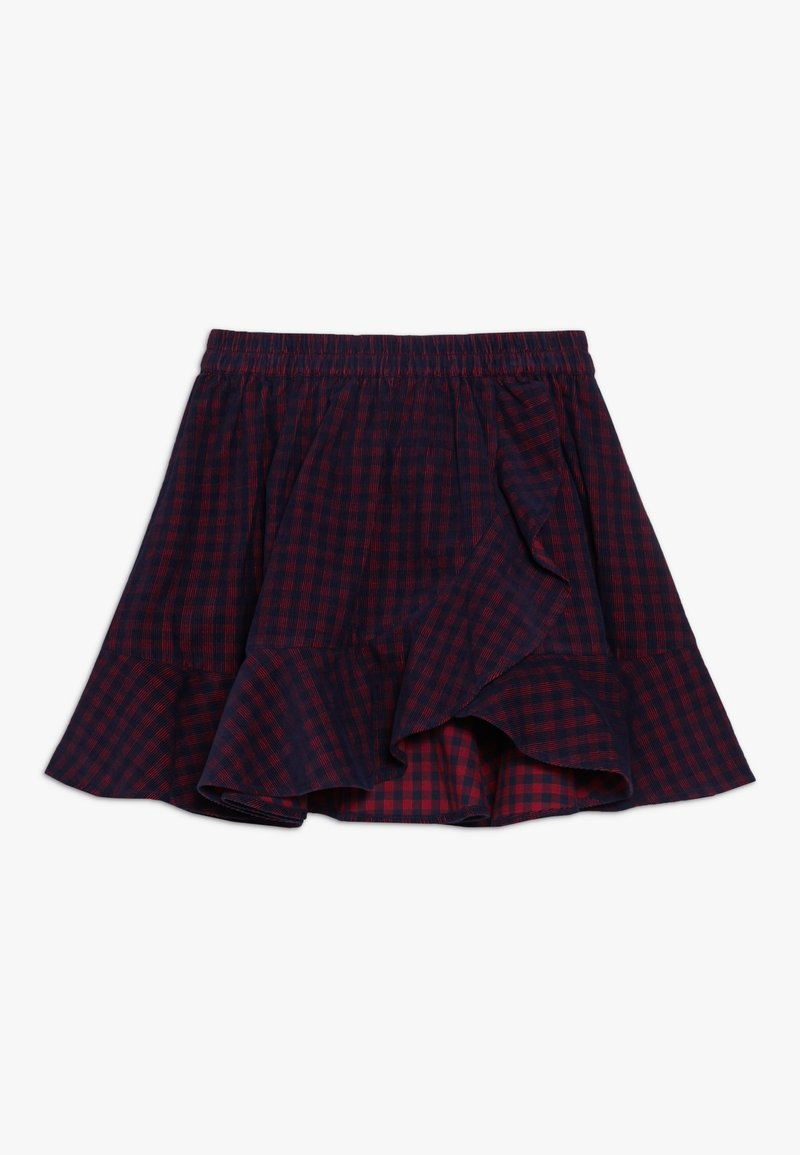 Friboo - A-line skirt - red/navy