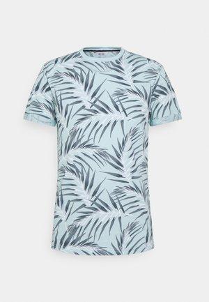 ONSIASON SLIM TEE - Print T-shirt - blue glow