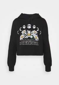 Even&Odd - Cropped Oversized Printed Hoodie - Jersey con capucha - black - 4