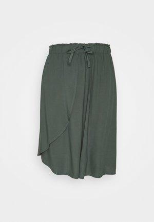 MIDI WRAP SKIRT - Mini skirt - olive khaki