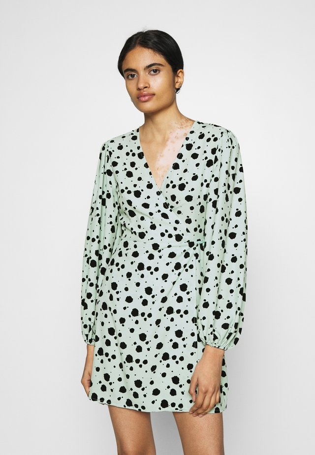 Day dress - mint paint splatters